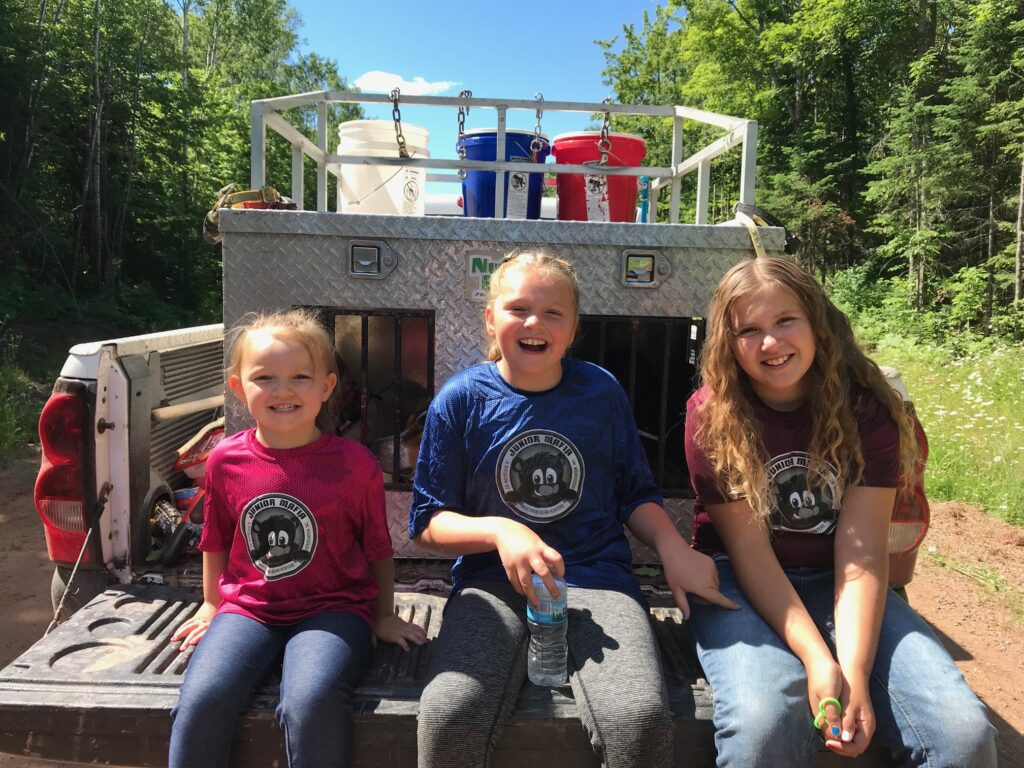 March 2019 | Abby Tuckner | Junior Bear Hunters | Junior bear hunting girls having a great time!