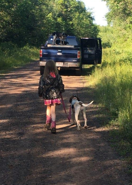 September 2020 | Marc Ince | Ava and her pup Ranger | Bear crossed the road and Ava wanted to take her pup out to check out the excitement.